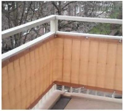 Zástěna na balkonové zábradlí